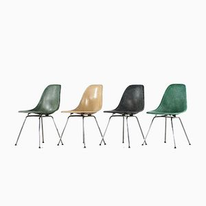 Mid-Century Side Chairs by Charles & Ray Eames for Herman Miller, Set of 4