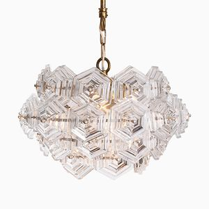 Hexagonal Crystal Chandelier, 1960s