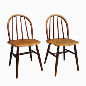 Fanett Stühle von Ilmari Tapiovaara für Edsby Verken, 1950er, 2er Set