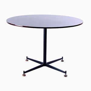 Runder Tisch aus Eisen und Holz, 1950er
