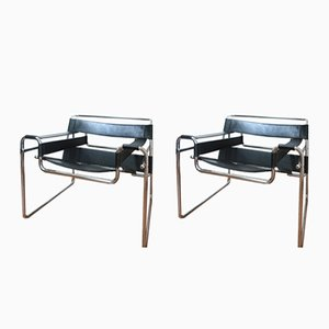 B3 Wassily Armchairs by Marcel Breuer, 1960s, Set of 2