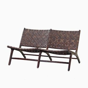 Vintage Danish Bench in Rosewood