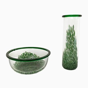 Murano Murrines Glass Vases by Gae Aulenti for Vetreria Vistosi, 1970s