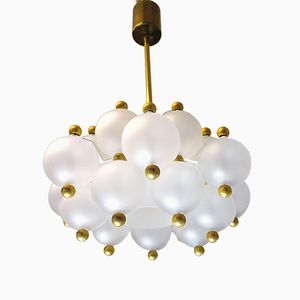 Glass Ball Pendant Light from J.T. Kalmar, 1960s