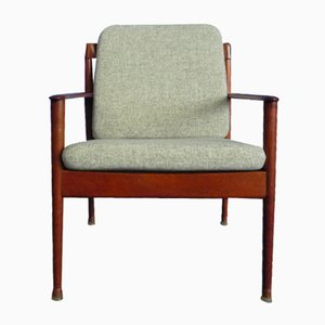 Mid-Century Lounge Chairs by Grete Jalk for Poul Jeppesen, Set of 2