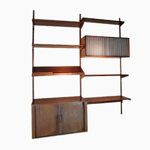 Scandinavian Wall Unit in Rosewood by Kai Kristiansen for Felballes Mobelfabrik, 1960s