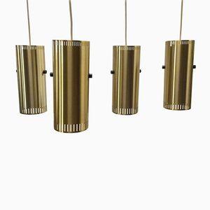 Posaune Hängelampen von Jo Hammerborg für Fog & Mørup, 1960er, 4er Set