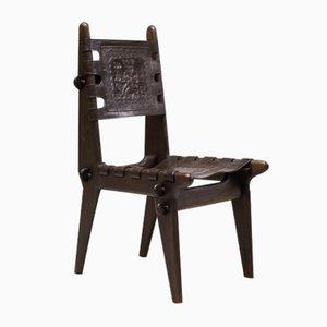 Vintage Ecuadorian Dining Chairs by Angel Pazmino for Muebles de Estilo, Set of 4
