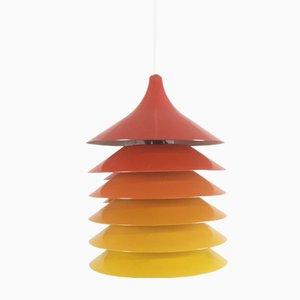 Vintage Duett Hängelampen in Orange, Gelb & Rot von Bent Gantzel Boysen für Ikea, 1970er, 3er Set