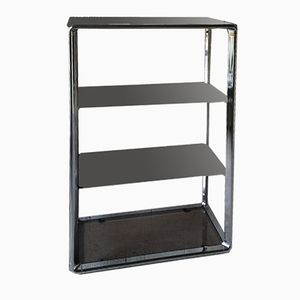 Italian Chrome & Glass Shelving Unit from Fratelli Orsenigo, 1970s