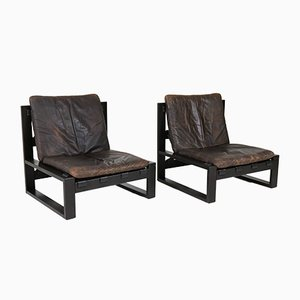 Dutch Mid-Century Brutalist Lounge Chairs by Sonja Wasseur, 1970s, Set of 2