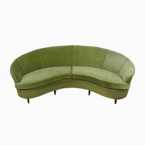 Mid-Century Curved Italian Sofa