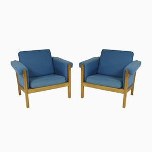 Danish Easy Chair by Hans J. Wegner for Getama, Set of 2