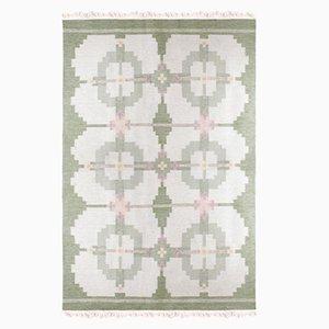 Großer Schwedischer Vintage Rolakan Teppich aus Handgewebter Wolle