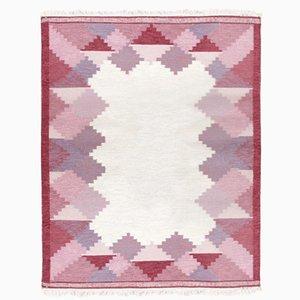 Vintage Swedish Rolakan Hand Woven Woolen Carpet by Anna Johanna Angstrom