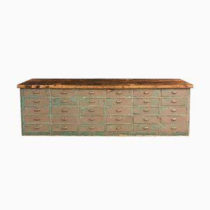 Großer Schubladenschrank mit Platte aus Eiche, 1920er