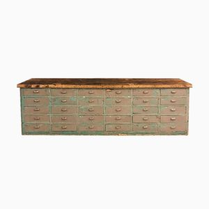 Large Bank of Drawers with an Oak Top, 1920s