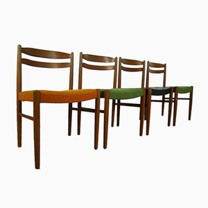 Mid-Century Swedish Teak Chairs by Carl Ekström for Johansson & Söner, Set of 4