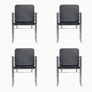 Finnish Post-Modern Chairs by Yrjö Kukkapuro, 1980s, Set of 4