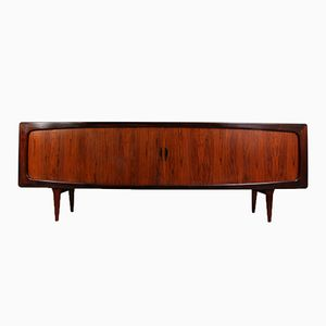 Rosewood Sideboard with Tambour Doors by Hans Peter Hansen for Skive