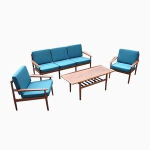 Dänisches Wohnzimmer Set von Grete Jalk für Dansk Design, 1967, 4er Set