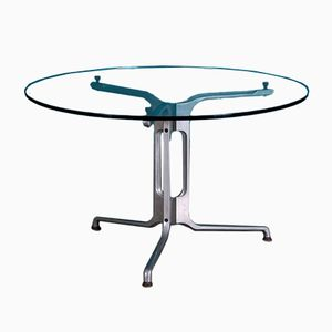 Glass and Aluminum Table, 1970s