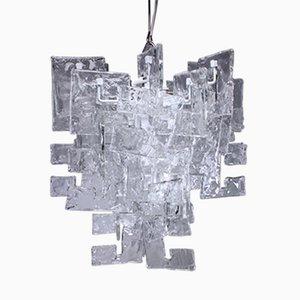 Murano Glas Hängelampe von Carlo Nason für Mazzega, 1970er
