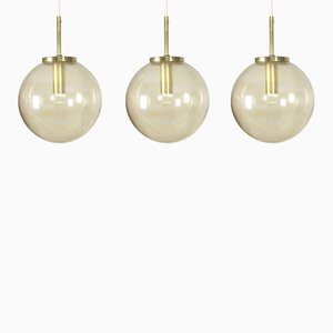 Glass Hanging Lights from Glashütte Limburg, 1960s, Set of 3