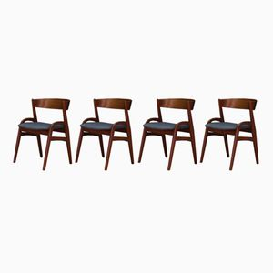 Vintage Danish Teak Chairs, Set of 4
