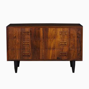 Vintage Scandinavian Rosewood Veneer Dresser