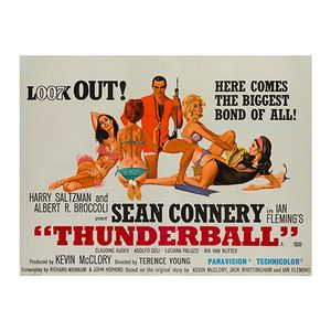 Thunderball Poster by Robert McGinnis, 1965
