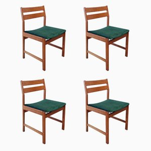 Vintage Danish Beech Dining Chairs by Kurt Østervig for KP Møbler, Set of 4