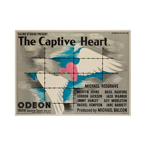 The Captive Heart Poster by John Bainbridge, 1946