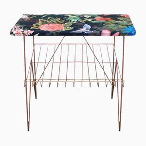 Table d'Appoint Florale Vintage