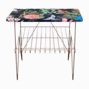 Vintage Floral Side Table