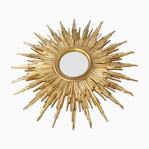 French Sunburst Mirror, 1950s