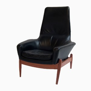 Rosewood Lounge Chair by Ib Kofod Larsen for Bovenkamp, 1960s