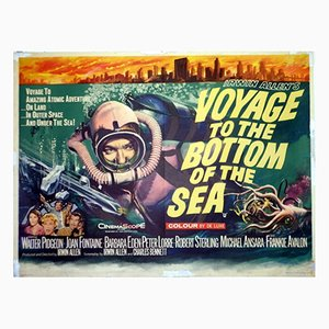 Voyage to the Bottom of the Sea Poster by Tom Chantrell, 1961
