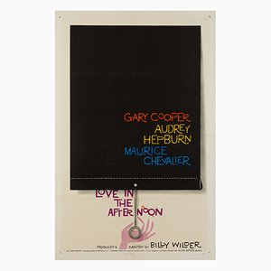 Affiche Love in the Afternoon par Saul Bass, 1957