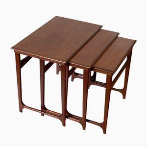 Vintage Danish Nesting Tables in Teak from BC Mobler