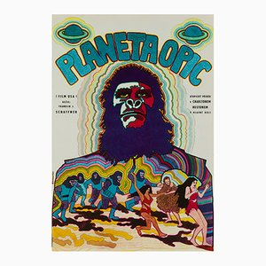 Affiche Planet of the Apes par Vratislav Hlavatý, 1970