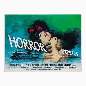 Affiche Horror Express par Tom Chantrell, 1972