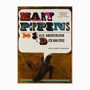 Affiche Mary Poppins par Eva Galova, 1969