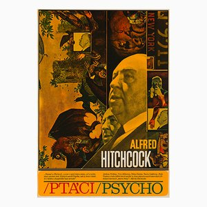 Affiche The Birds & Psycho par Zdenek Ziegler, 1970