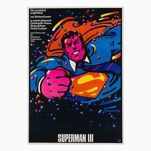 Affiche Superman 3 par Waldemar Swierzy, 1985