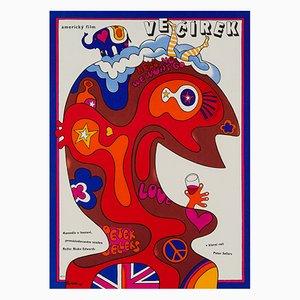 Der Partyschreck Poster von Jaroslav Fišer, 1970er