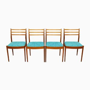 Mid-Century Teak and Fabric Dining Chairs from G-Plan, Set of 4