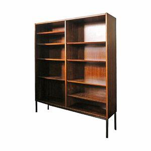 Danish Rosewood Bookshelf on Steel Base, 1960s
