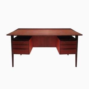 Teak Veneer Desk by Peter Lovig Nielsen for Dansk Design, 1960s