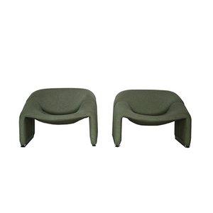 Vintage Groovy F598 Sessel von Pierre Paulin für Artifort, 2er Set
